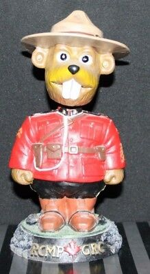 "RCMP GRC ""Sergeant Bucky Beaver"" Bobblehead (out of box) VERY RARE!"