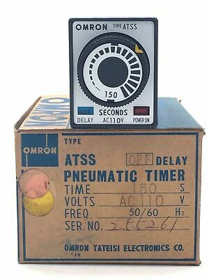 OMRON ATSS OFF Delay Pneumatic Timer Analogue 150 Sec 110VAC 50/60Hz Solid State