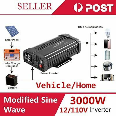 Max 6000W Car Vehicle USB DC 12V to AC 110V Power Inverter Adapter Converter G#