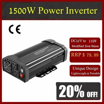 Solar Power Inverter 3000W 12V DC To 110V AC Modified Sine Wave Converter D#