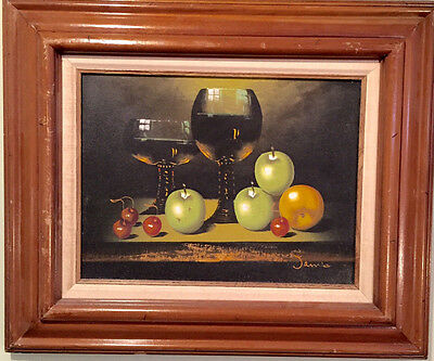 Awesome Still Life by James Highly Listed Artist Framed & Signed