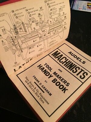 1942 *Audels Machinists and Tool Makers Handy Book* Frank D. Graham