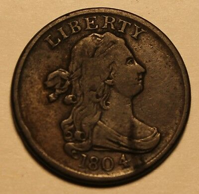 1804 Half Cent * All Original * Solid Fine+ * Chocolate Brown * Exquisite coin