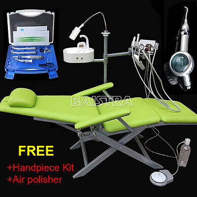 Portable Dental Folding Chair Turbine + High Low Speed Handpiece + Air Polisher