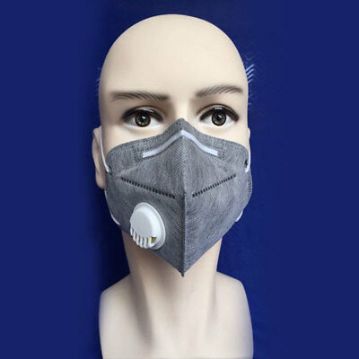5 Pcs Activated Charcoal Particulate Respirator Valved Safety Dust Mists Mask