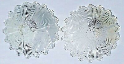 "Pair Antique Art Deco 12"" Starburst Glass Shade Ceiling Light Lamp Fixture Decor"