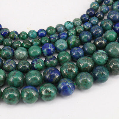 Natural Lapis Lazuli Chrysocolla Gemstone Round Loose Bead Making DIY 4/6/8/10mm