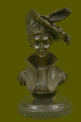 "Stunning Gorgeous Rare Art Deco Nouveau ""iris"" Bronze Bust Gerome Sculpture Deal"