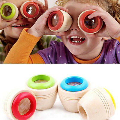 Wooden Educational Magic Kaleidoscope Baby Kid Children Learning Puzzle Toys