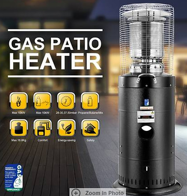 Powder Coated Stainless Steel Gas Outdoor Patio Heater Propane Butane LPG Cover