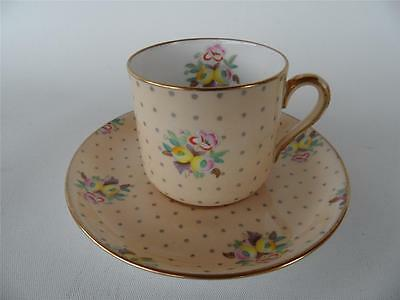 Antique Spode Copelands China Old Concord Hand Painted Coffee Demitasse Duo