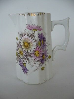 Antique Pink & Mauve Floral Jug 6 Inch Tall Can Be Used As A Vase
