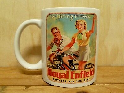 300ml COFFEE MUG - ROYAL ENFIELD BICYCLES  ARE THE BEST