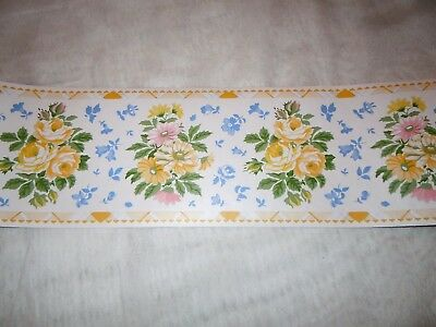 3 Rolls of Laura Ashley Home Prepasted Wallpaper Border Floral