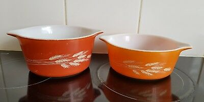 Pyrex Corningware Casserole Dishes AUTUMN HARVEST 750ML & 1 LITRE