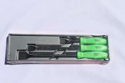 Snap On Carbon Scraper Set 3 pc. Green Hard Handle Rare Brand New Hard To Find