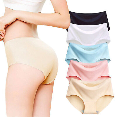 Women Underwear Briefs Ice Silk Seamless Briefs Lingerie Breathable Underpants