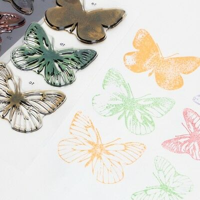 Silicone Transparent Clear Flower Stamp Sheet Cling Scrapbooking Card DIY Craft