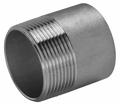 "1"" BSP 316 STAINLESS STEEL TOE NIPPLE MALE THREAD WELD 40mm LONG"