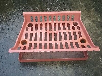 Fire Grate Cast Iron with Metal Fire Place Tray Both Painted