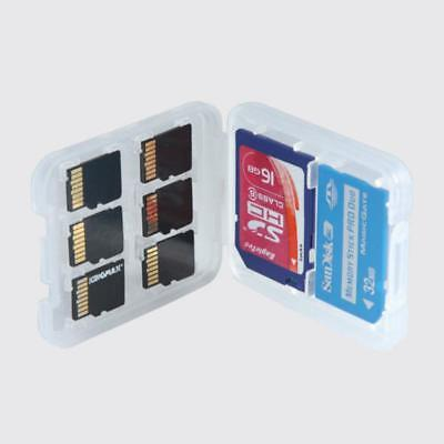 New 2PC 8 in1 Memory Card Case Hard Micro SD SDHC TF MS Protector Box Holder