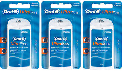 Braun Oral-B Ultrafloss Zahnseide 50 m - 3'er Pack