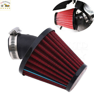 35MM Red Air Intake Filter Pod 45 Degree Bend fit for Motorcycle Scooter ATV