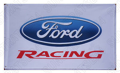 New Top quality Ford racing flag ford car banner flags 3X5Ft white Free shipping