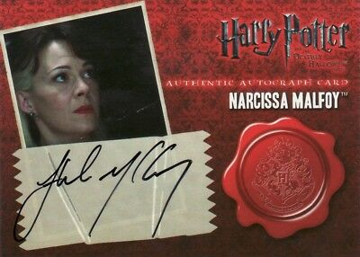 Harry Potter & the Deathly Hallows Part 1 Helen McCrory as Narcissa Malfoy Auto