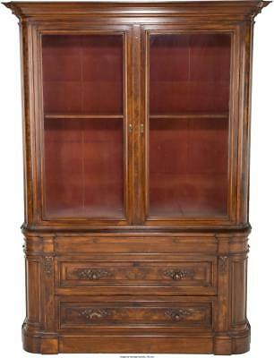 AN AMERICAN RENAISSANCE REVIVAL CARVED WALNUT BOOKCASE, LATE 19TH C... Lot 65926