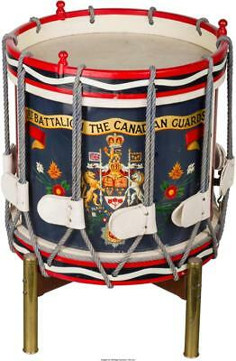 A FIRST BATTALION CANADIAN GUARDS DRUM ON STAND, SECOND HALF 20TH C... Lot 66463