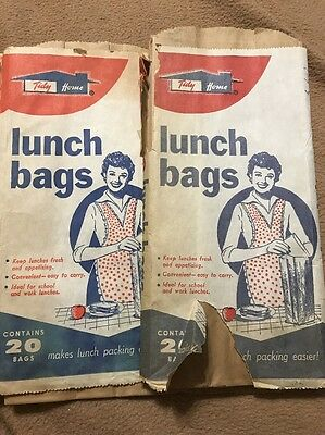 Tidy Home Packing Lunch Bags - Advertising - Original Package Vintage