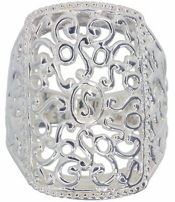 Intricate Design Statement Sterling Silver Ring
