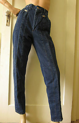 80's STAGGERS Jeans Super High Waist, Joseph Saba, Tapered Mom Style, Sz 12, VGC