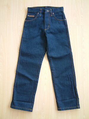 "VINTAGE WRANGLER TEXAS JEANS..BROKEN TWILL..KIDS..22""..HEAVY DENIM..80's..NOS"