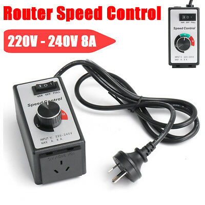 220V-240V 8A Variable Speed Controller Control Motor Rheostat Router Fan