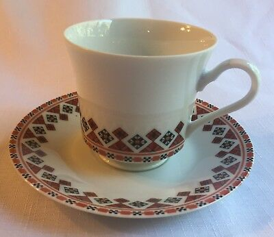 Vintage Ukranian Art By Marusia Porcelain Tea-Coffee Cup & Matching Saucer!!