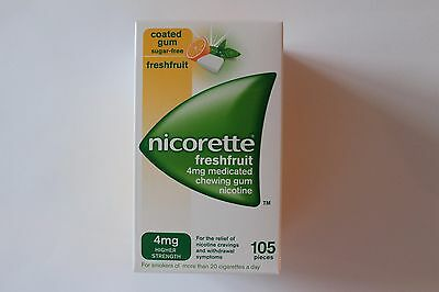 Nicorette Freshfruit 4mg Medicated Chewing Gum - 105 Pieces
