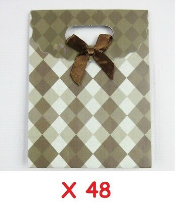 48 SMALL BROWN GIFT JEWELRY BAGS   16 x 13 x 6 cm   48 FOR ONLY £14.99!!
