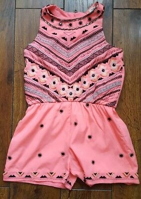 Beautiful Girls pink, beaded deatil playsuit from River island age 3