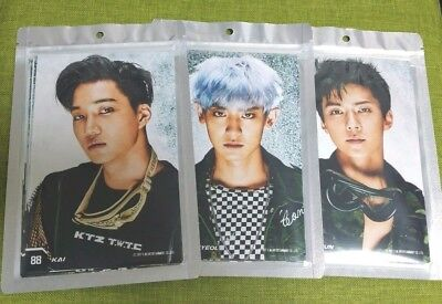 EXO THE POWER OF MUSIC Limited 4x6 PHOTO SET 8pcs + Gift SM Official NEW The War