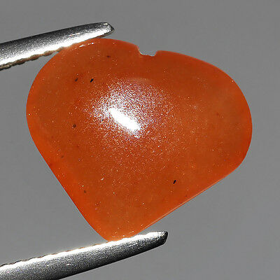 4.75 Ct Untreated Antique Burma Orange Natural Jadeite Heart Loose Gemstones
