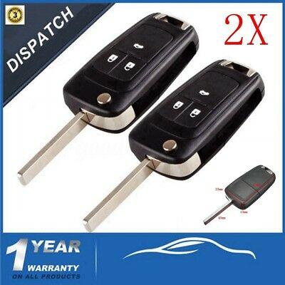 2X3Buttons Remote Key Case Shell For Vauxhall/opel/zafira/astra/insignia/holden