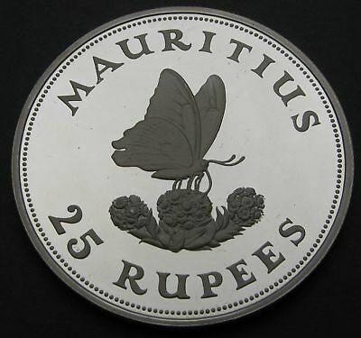 MAURITIUS 25 Rupees 1975 Proof - Silver - Conservation - 1230