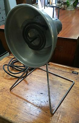 Industrial Vintage Infra Red Heat Lamp By Giseal In Working Order