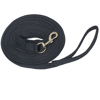 Longe Griffy, Lungeing Line Extra Soft and Grippy ca. 8 M Long - Black