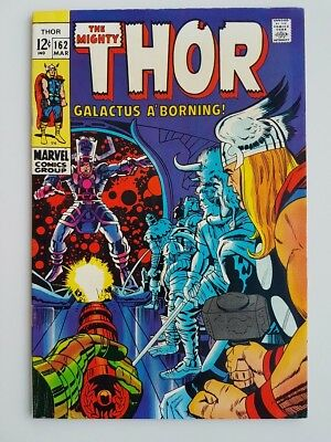 Thor #162 Marvel Vol 1 (March 1969) – Very Fine/NM (grade 9.0)