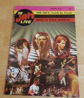 The Jam Live a4 booklet, Guide by Paul Weller,Amazing no 6,Time Scan Publication