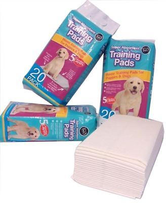 New 40 Puppy Training Pads 60 X 45cm House Large Wee Dog Toilet Train Absorbent
