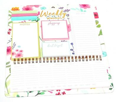 A6 2019 Mum's Family Organiser Diary Week View Floral Home Office Planner Gift